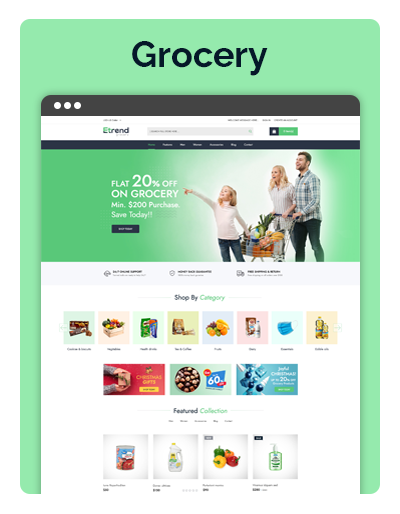 Etrend Grocery Layout