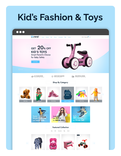 Etrend Kids Fashion & Toys Layout