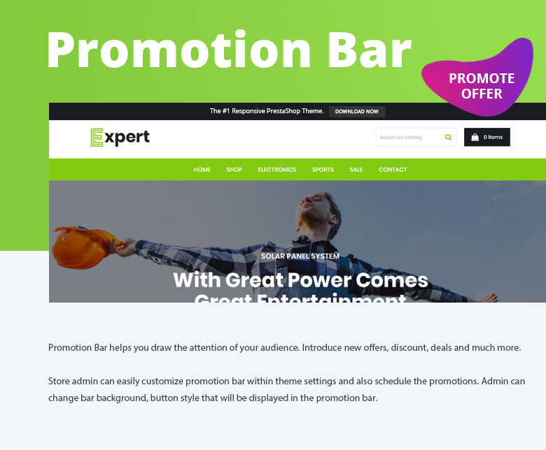 Promotion Bar PrestaShop Theme