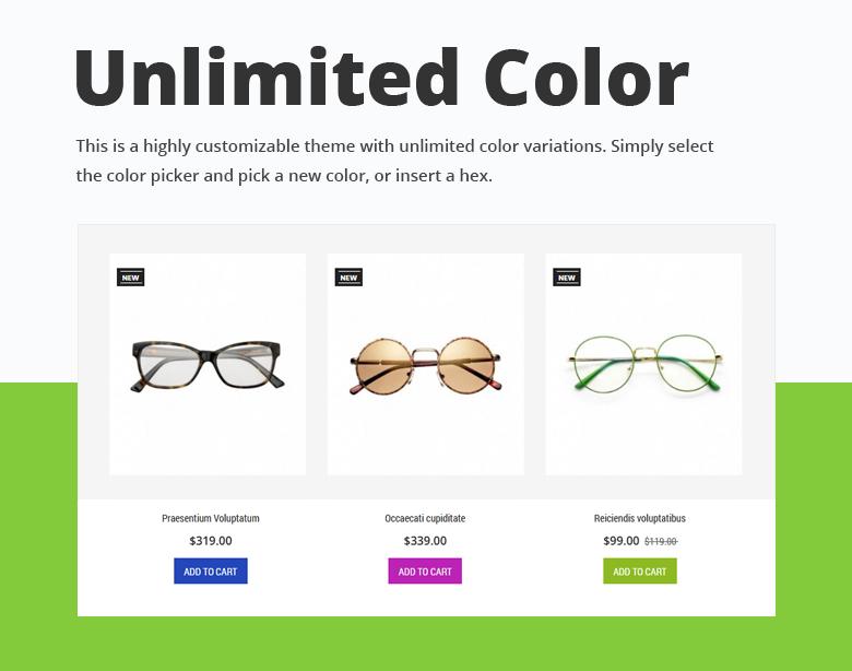 Unlimited Color PrestaShop Theme