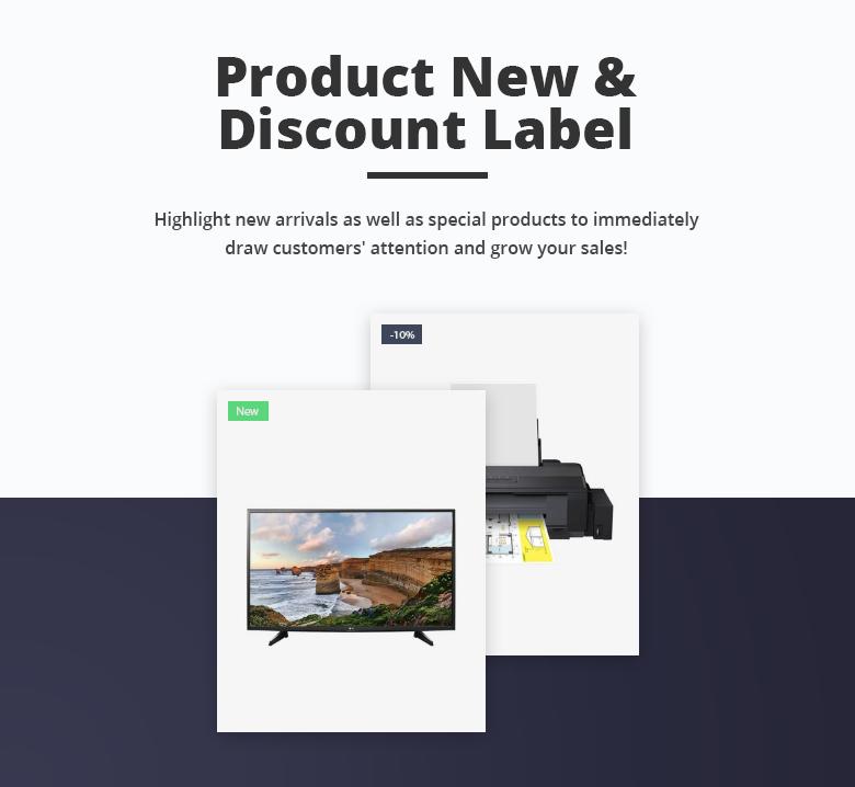 Product Label Free PrestaShop Theme