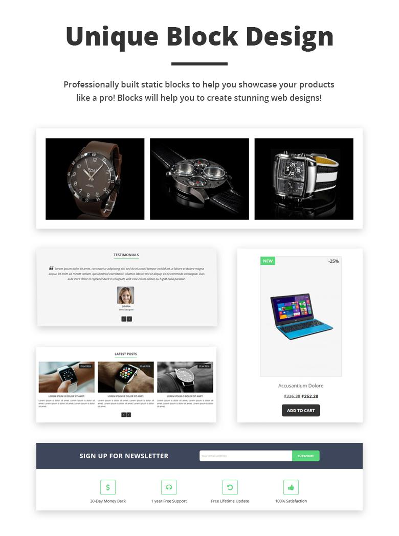 Unique Block Design Free PrestaShop Theme