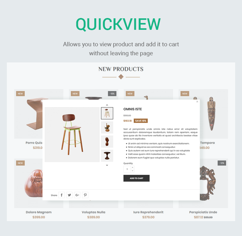 Quickview PrestaShop Theme