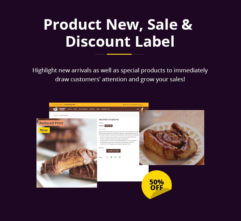 Product Label PrestaShop Theme